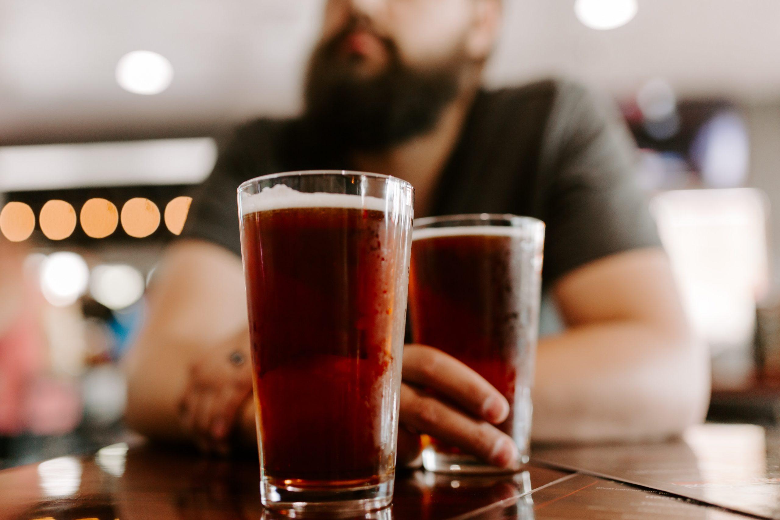 Bier met baard